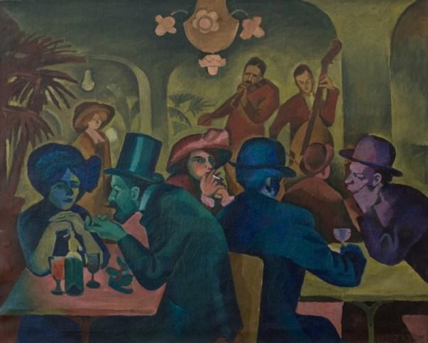Bohumil Kubišta, A Café, 1910