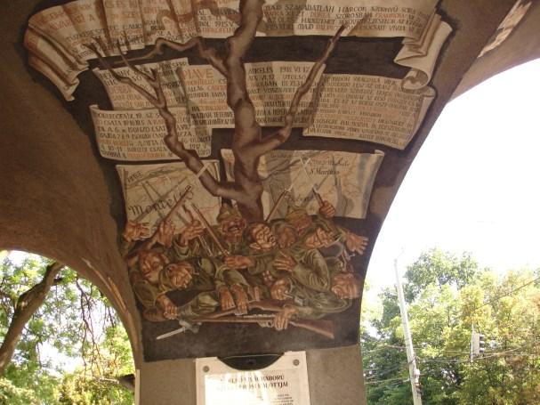Vilmos Aba-Novák, Tree of Montello, Gate of Heroes
