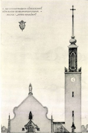 Gyula Rimanóczy, Design for a church in Újhatvan