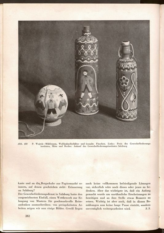 Souvenirs by Poldi Wojtek reproduced in 'Geschmackvolle Reiseandenken', Profil. Österreichische Monatsschrift für bildende Kunst 6 (1935), pp.281-283
