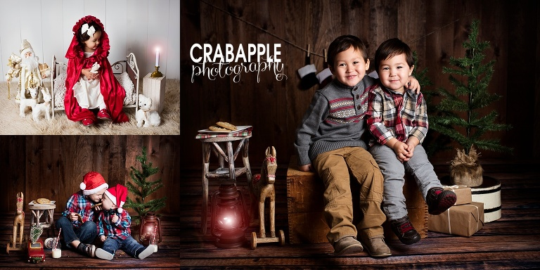 Christmas Card Family Portraits Studio Mini Sessions