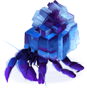 Mineral hermit crab by Justine Raymond