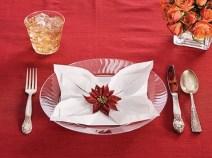 Servetel impaturit Poinsettia / Floarea Craciunului