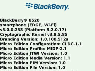 Leaked: OS 5.0.0.238 for the BlackBerry Curve 8520