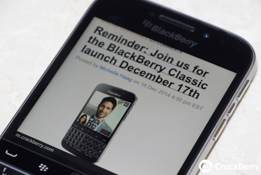 BlackBerry Classic Browser