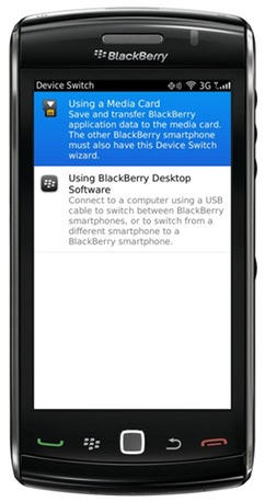 BlackBerry de configuración