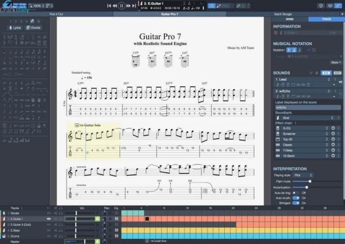 Guitar Pro 7.5.5 Build 1844 Crack Full Version