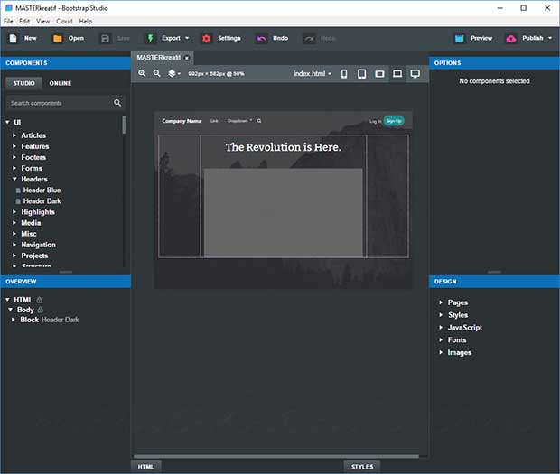 Bootstrap Studio 5.8.3 Crack With License Key Free Download