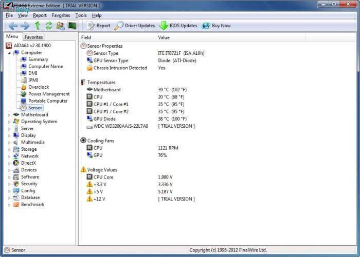 AIDA64 Extreme Screenshot 2