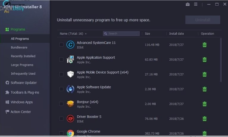 IObit Uninstaller Pro Screenshot 1