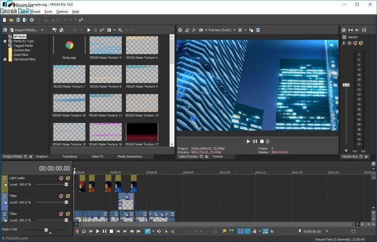 MAGIX Vegas Pro Screenshot 1
