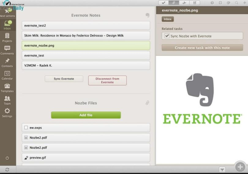 Evernote Screenshot 2