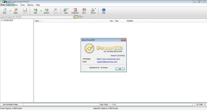 PowerISO Screenshot 1