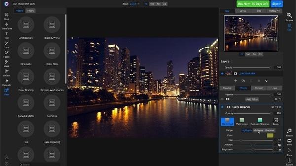 ON1 Photo RAW Screenshot