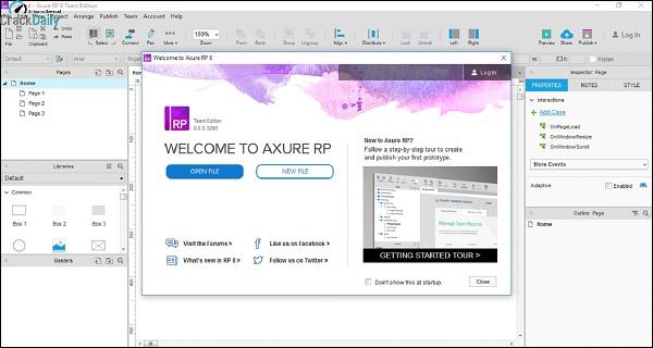 Axure RP Pro Team Enterprise Screenshot