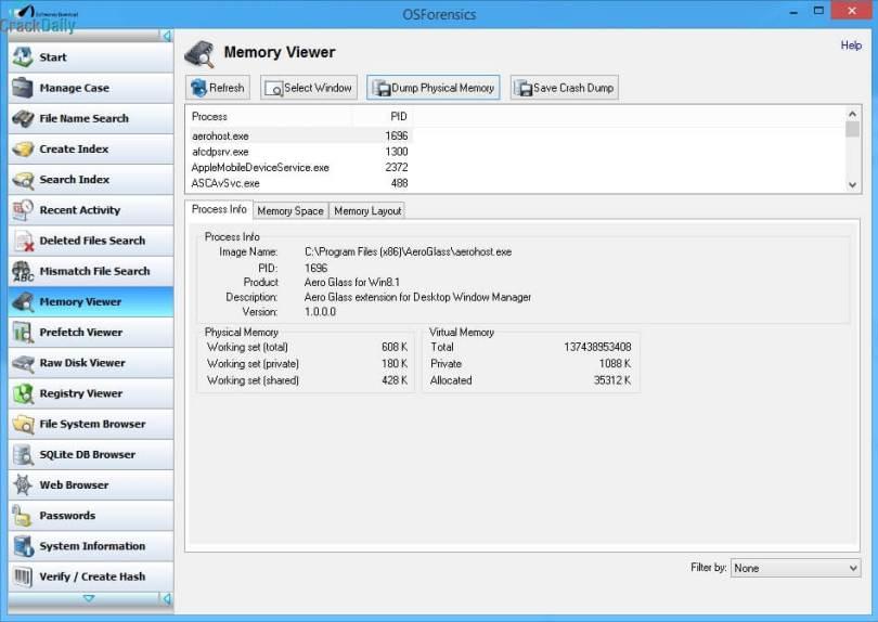 PassMark OSForensics Professional Screenshot