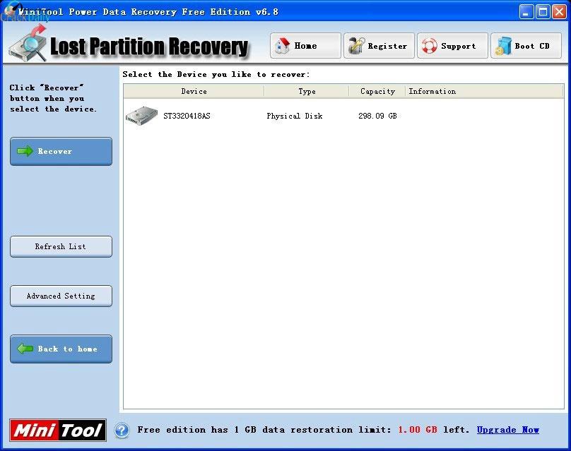 MiniTool Power Data Recovery Screenshot