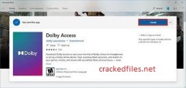 Dolby Access Crack 3.6.413.0 Windows 10