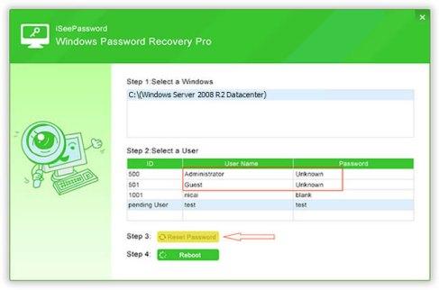 crack windows password recovery tool