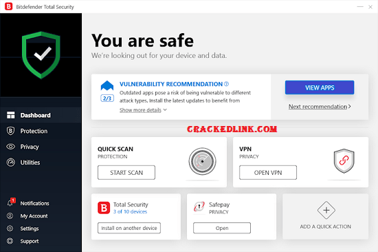 Bitdefender Total Security 2021 Crack With Activation Code [Latest]