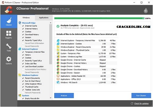 CCleaner Pro 5.78 Crack With License Key 2021 Free Download