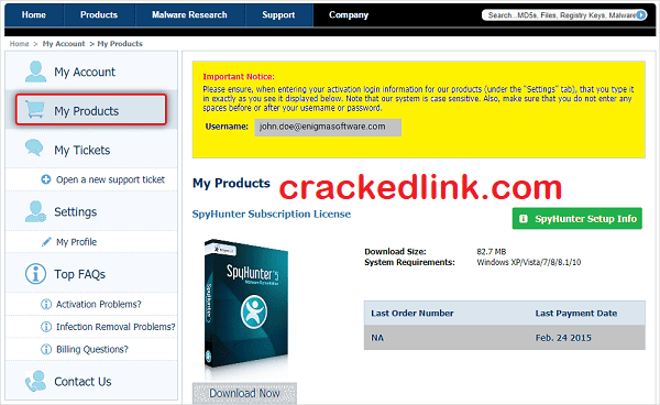 SpyHunter 5.10.4 Crack With Serial Key {Email & Password} Free Download