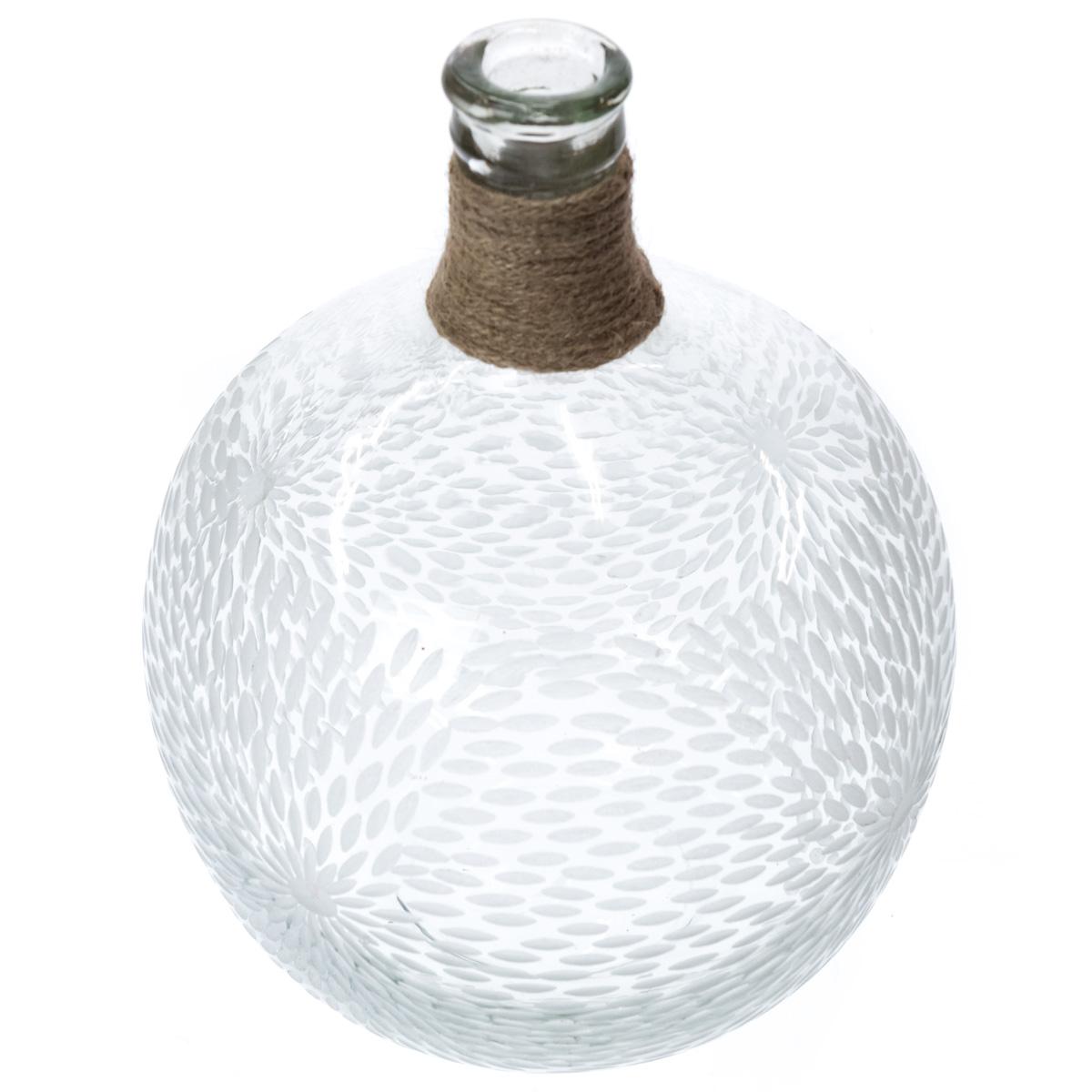 Etched Glass Vase