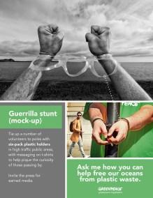 Stunt promoting Greenpeace