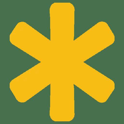 Yellow Asterisk 2