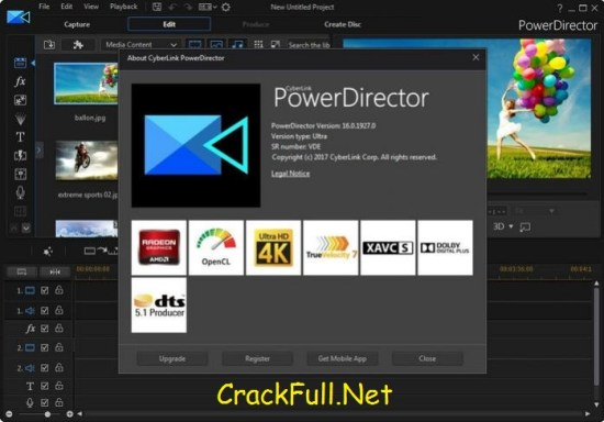 CyberLink PowerDirector 16 Keygen Crack + Serial Key Download