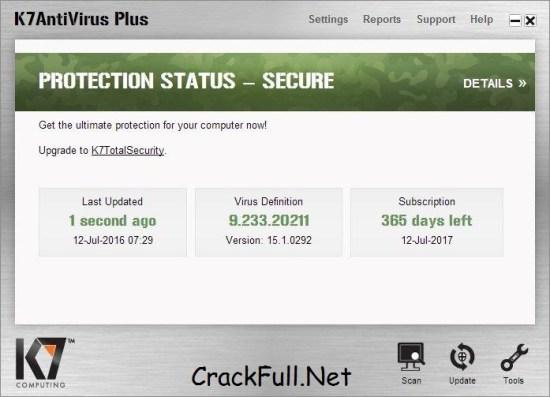 k7 Total Security Key 2018