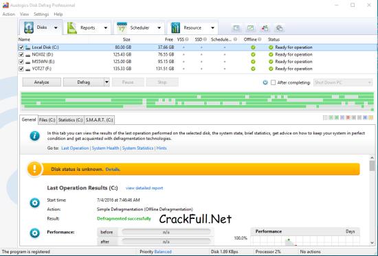 Auslogics Disk Defrag Pro Portable
