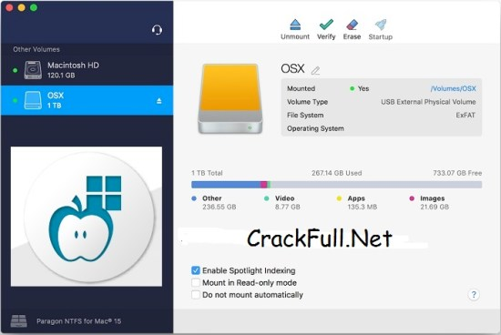 Paragon NTFS for Mac Crack