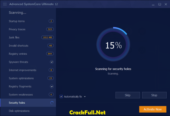 Advanced SystemCare Ultimate 12.1 Key