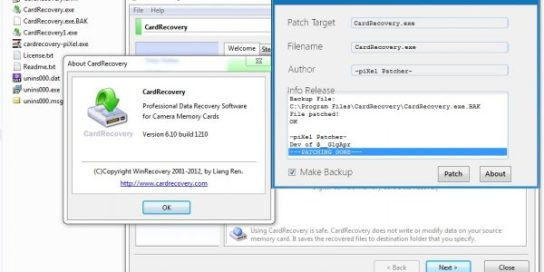 cardrecovery serial