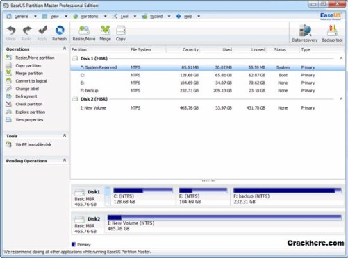 EASEUS Partition Master Professional 12.5 keygen