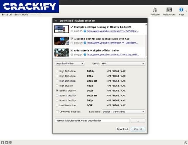 4K Video Downloader 4.7 Crack Free Download