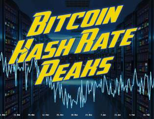bitcoin btc hash rate peaks high