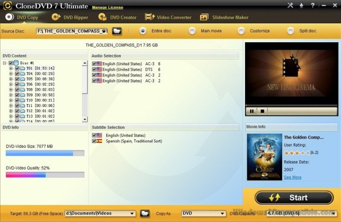 CloneDVD 7 Ultimate incl Serial Key Full Version