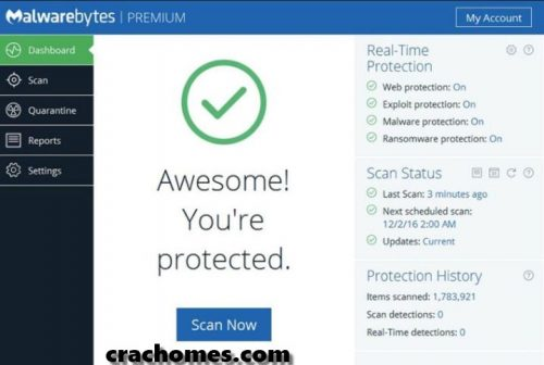 Malwarebytes Anti-Malware 3.6.1 Crack + Premium [Win + Mac]