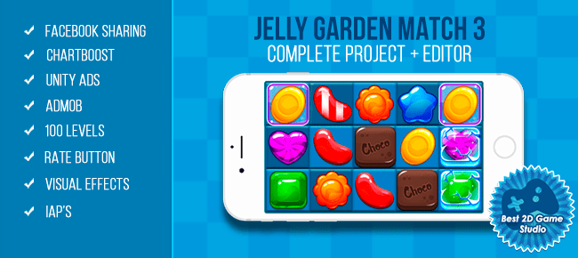 Unity Asset - Jelly Garden Match 3