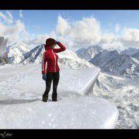 DAZ3D ~ Poser : Easy Environments: Snowy Mountains