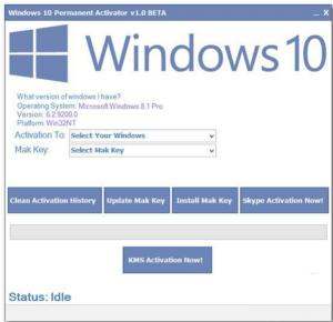 Full version Windows 10 Permanent Activator