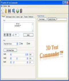 3D Text Commander incl serial key free download