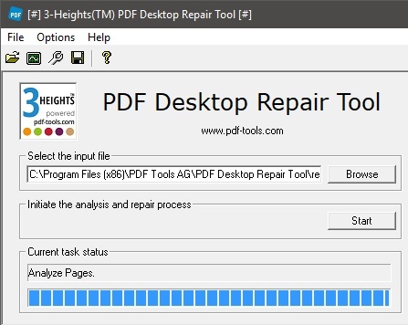 PDF Desktop Analysis & Repair Tool