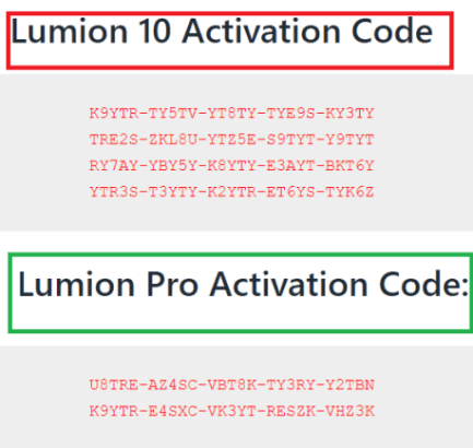 Lumion-Activation-Code