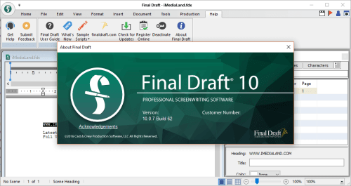 Final Draft 10.0.7 Build 62 Full Crack