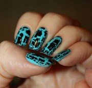 crackle nail polish design