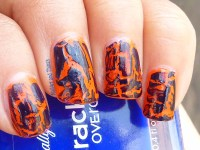 Crackle Nail Polish Designs | crackle nail polish