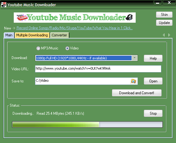 YouTube Music Downloader 9.5 Crack + Serial Key Free Download